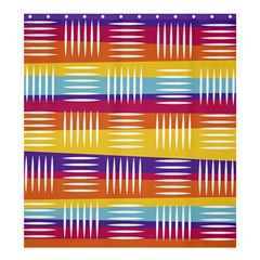 Background Line Rainbow Shower Curtain 66  x 72  (Large)