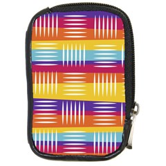 Background Line Rainbow Compact Camera Leather Case