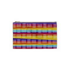 Background Line Rainbow Cosmetic Bag (Small)