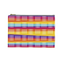 Background Line Rainbow Cosmetic Bag (Large)