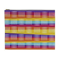 Background Line Rainbow Cosmetic Bag (XL)