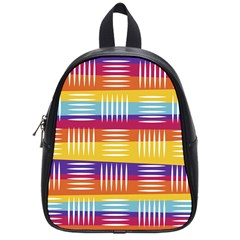 Background Line Rainbow School Bag (Small)