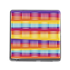 Background Line Rainbow Memory Card Reader (Square 5 Slot)