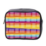 Background Line Rainbow Mini Toiletries Bag (Two Sides) Front