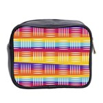 Background Line Rainbow Mini Toiletries Bag (Two Sides) Back