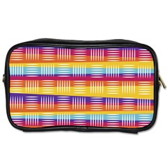 Background Line Rainbow Toiletries Bag (Two Sides)