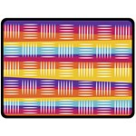 Background Line Rainbow Fleece Blanket (Large)  80 x60  Blanket Front