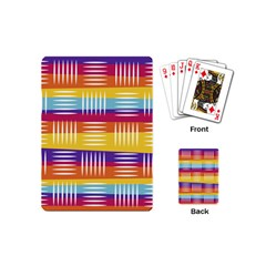 Background Line Rainbow Playing Cards (Mini)