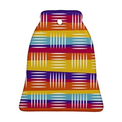 Background Line Rainbow Bell Ornament (Two Sides)