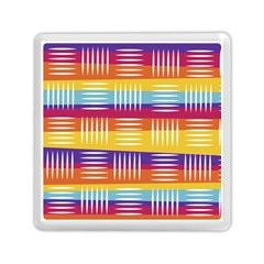 Background Line Rainbow Memory Card Reader (Square)