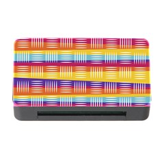 Background Line Rainbow Memory Card Reader with CF