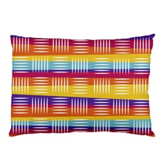 Background Line Rainbow Pillow Case (Two Sides)