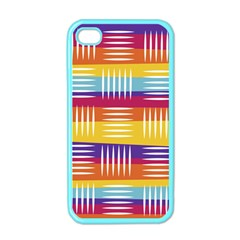 Background Line Rainbow iPhone 4 Case (Color)