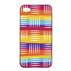 Background Line Rainbow iPhone 4/4s Seamless Case (Black)