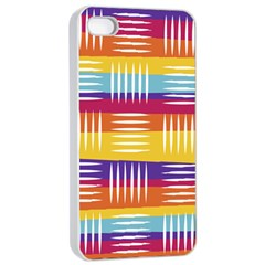 Background Line Rainbow iPhone 4/4s Seamless Case (White)