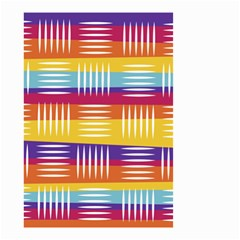 Background Line Rainbow Small Garden Flag (Two Sides)