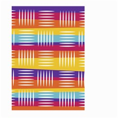 Background Line Rainbow Large Garden Flag (Two Sides)