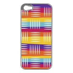 Background Line Rainbow iPhone 5 Case (Silver)
