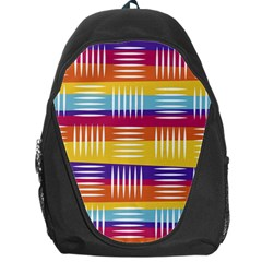 Background Line Rainbow Backpack Bag