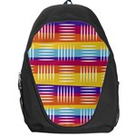 Background Line Rainbow Backpack Bag Front