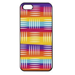 Background Line Rainbow iPhone 5 Seamless Case (Black)