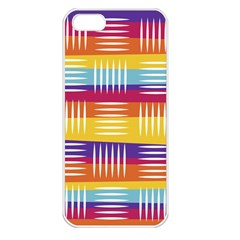Background Line Rainbow iPhone 5 Seamless Case (White)