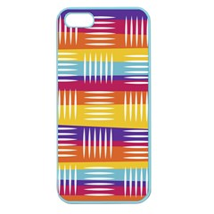Background Line Rainbow Apple Seamless iPhone 5 Case (Color)