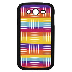 Background Line Rainbow Samsung Galaxy Grand DUOS I9082 Case (Black)