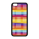 Background Line Rainbow iPhone 5C Seamless Case (Black) Front