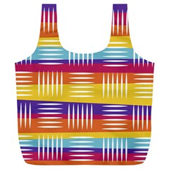 Background Line Rainbow Full Print Recycle Bag (XL)