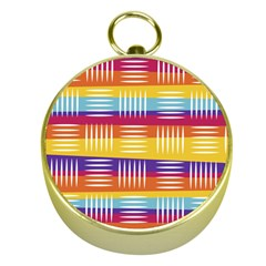 Background Line Rainbow Gold Compasses