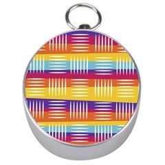 Background Line Rainbow Silver Compasses