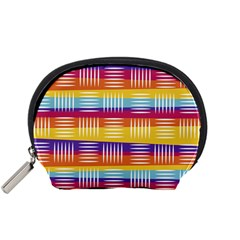 Background Line Rainbow Accessory Pouch (Small)