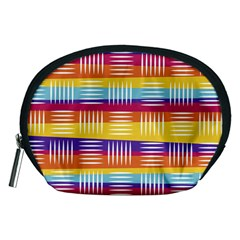 Background Line Rainbow Accessory Pouch (Medium)