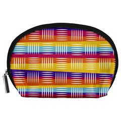 Background Line Rainbow Accessory Pouch (Large)