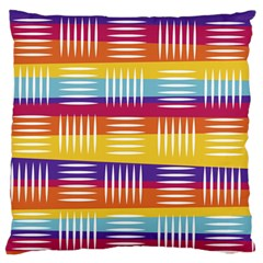 Background Line Rainbow Standard Flano Cushion Case (Two Sides)