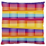 Background Line Rainbow Large Flano Cushion Case (One Side) Front