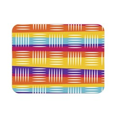 Background Line Rainbow Double Sided Flano Blanket (Mini)