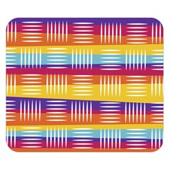 Background Line Rainbow Double Sided Flano Blanket (Small)