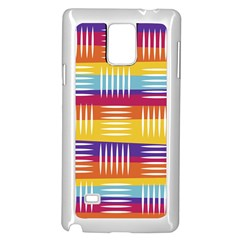 Background Line Rainbow Samsung Galaxy Note 4 Case (white)