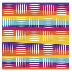 Background Line Rainbow Large Satin Scarf (Square)