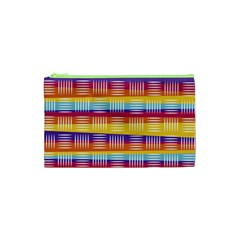Background Line Rainbow Cosmetic Bag (XS)
