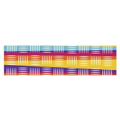 Background Line Rainbow Satin Scarf (Oblong)
