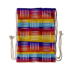 Background Line Rainbow Drawstring Bag (Small)