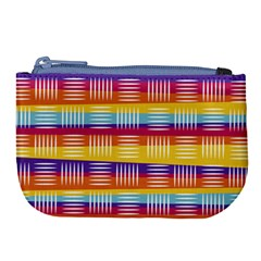 Background Line Rainbow Large Coin Purse