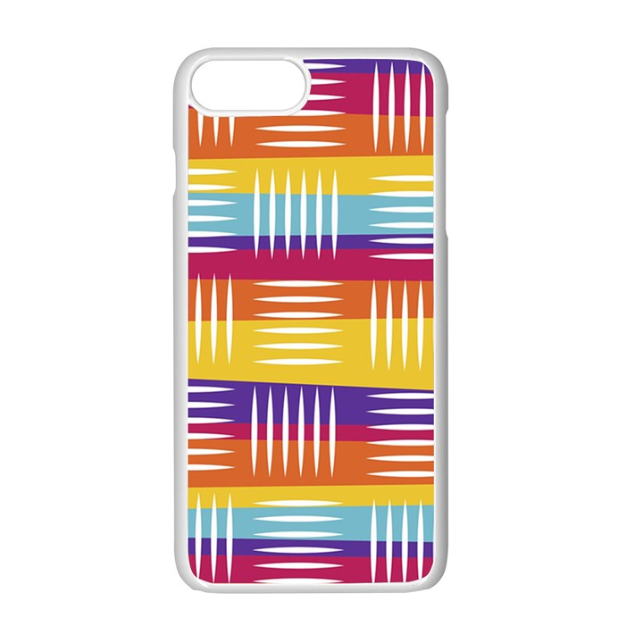 Background Line Rainbow iPhone 7 Plus Seamless Case (White)