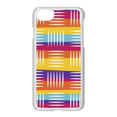 Background Line Rainbow iPhone 7 Seamless Case (White)
