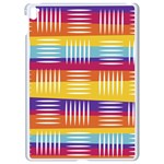 Background Line Rainbow Apple iPad Pro 9.7   White Seamless Case Front