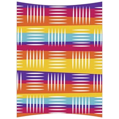 Background Line Rainbow Back Support Cushion