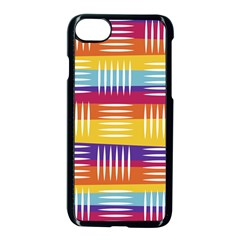 Background Line Rainbow iPhone 8 Seamless Case (Black)